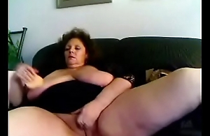 Beautiful Granny &quot_Marhot&quot_ from hotpornocams.com masturbate on cam