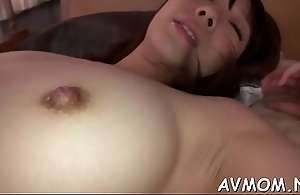 Sexy mom seduces 2 horny dudes