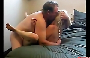 Sexy blonde daughter fucking old daddy for pocket money