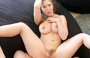 Bysty Sister Persuades Brother Into Oily Titty Fuck  HD Lena Paul Porn